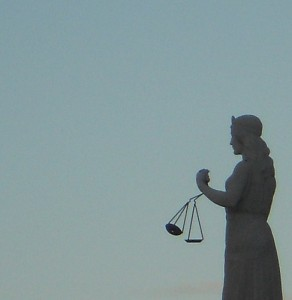 Scales of Justice, for workplace violation criminal case