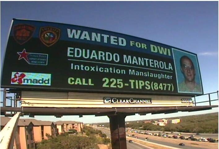 DWI digital billboard in San Antonio, TX