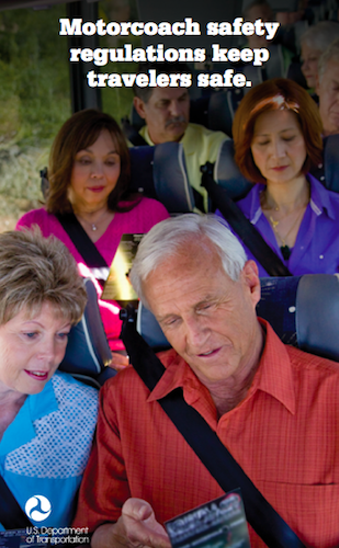 Motorcoach safety regulations keep travelers safe.