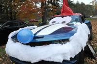 "Car dressed as ""Halloween Smurf"""