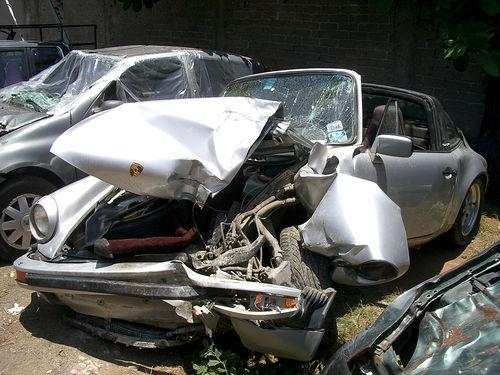 Porsche wreck - side