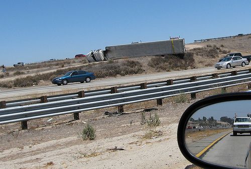 I-15 big rig accident
