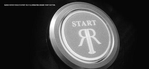 Range Rover start button