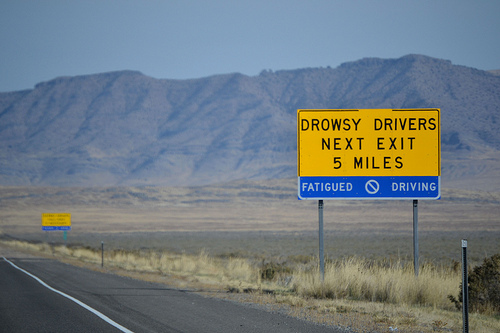 eastbound I-80 – drowsy driver warning