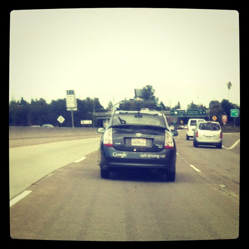 Lookie! Its the Google Self Driving Car!