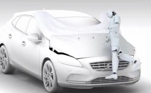 Volvo V49 Pedestrian Airbag Technology