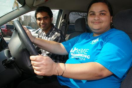 Kaushik Ray, left, and Ashirbani Saha