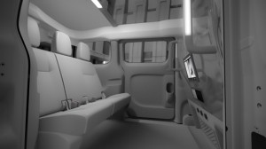 Taxi of Tomorrow's rear (passenger) seat
