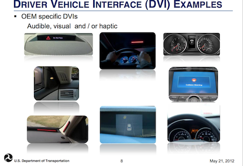 Driver Vehicle Interface (DVI) Examples
