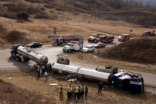 Hazmat 1 (truck rollover accident)
