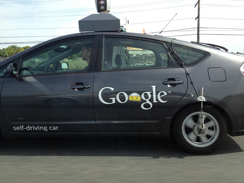 Google self driving car on 101!