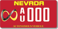 Autonomous Vehicle License Plate