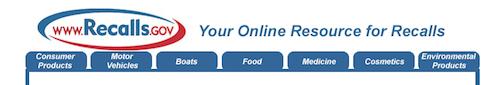 U.S. government's Online Resource for Recalls