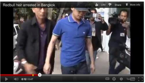 Police arrest Vorayuth Yoovidhya (Reuters video)