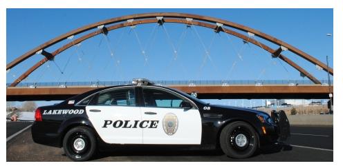 A Lakewood, Colorado, police car