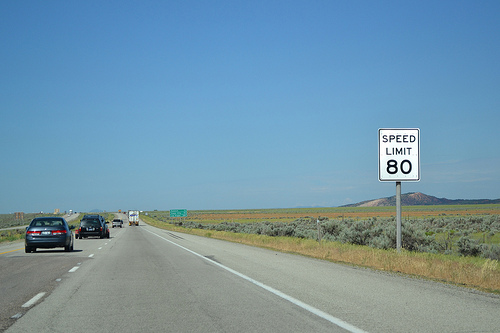 southbound I-15 – speed limit 80 mph