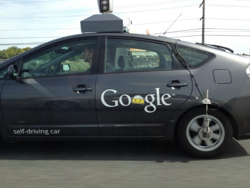 Google self-driving car on 101!