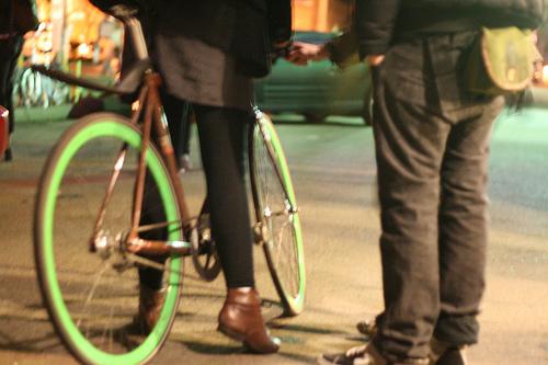 Drunk chick on a bike