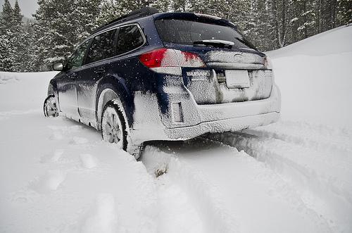 Having a Little Fun (snow tires in Colorado)