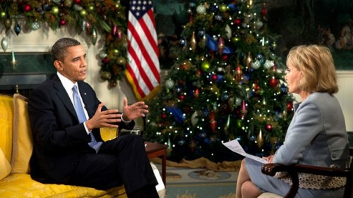 Barbara Walters interviews President Barack Obama