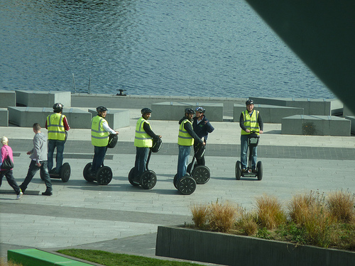 Segway riders in Dublin