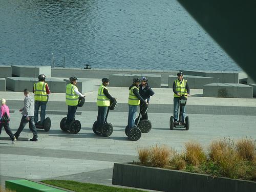 Segway riders in Dublin
