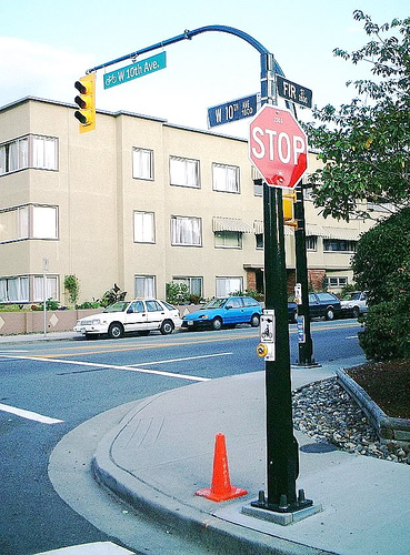 Bicycle Crossing in Vancouver