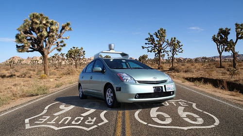 Google driverless car in California