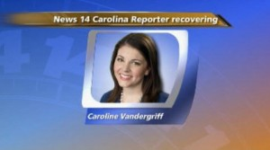 TV reporter Caroline Vandergriff