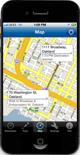 iPhone 4 map app