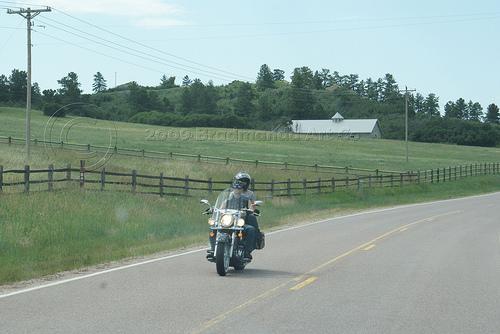 a double (motorcyclist in Colorado)