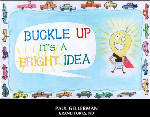 A winning poster by Paul Gellerman in 2012-2013 National Safety Poster and Video Contest