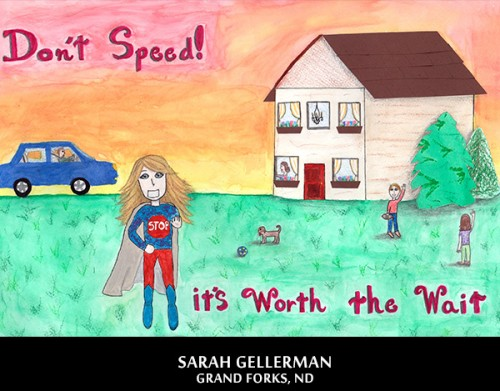 A winning poster by Sarah Gellerman in 2012-2013 National Safety Poster and Video Contest