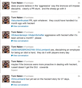 Nalen Calls Out Broncos on Twitter