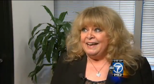 Sally Struthers in an ABC7DC YouTube news video