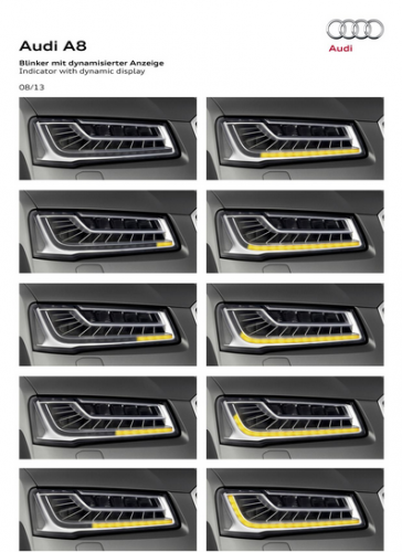 Audi's sequential LED turn signal lights