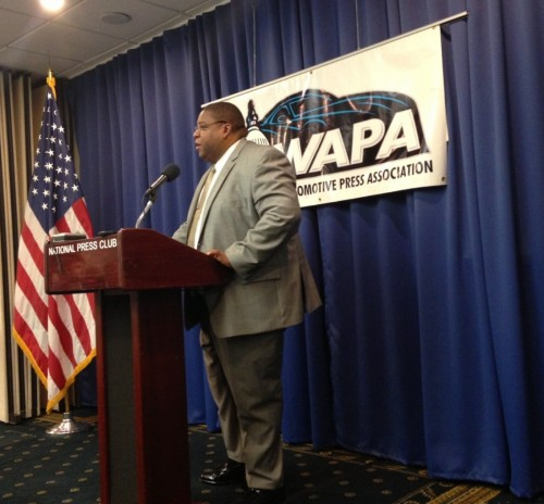NHTSA Administrator David Strickland speaks about new rule