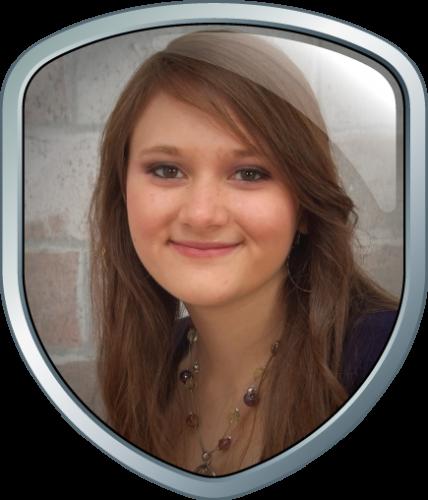 Teen science award winner Sara Volz from Colorado Springs