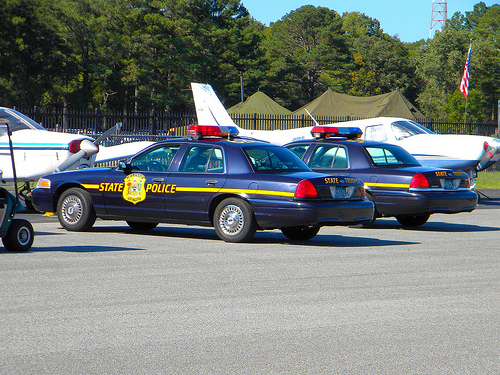 Delaware State Police Mercury Crown Victorias, photographed in 2010