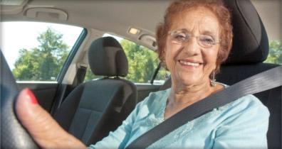 Senior driver, photo courtesy AAA