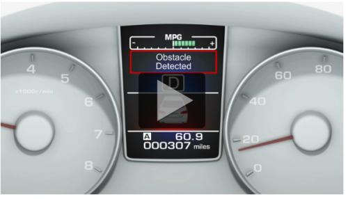 Screen shot from Subaru's EyeSight video