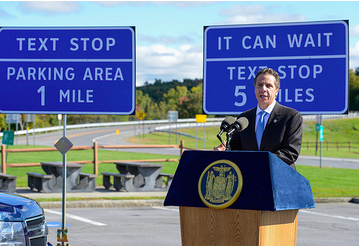 New York Governor Andrew M. Cuomo announcing Texting Zones