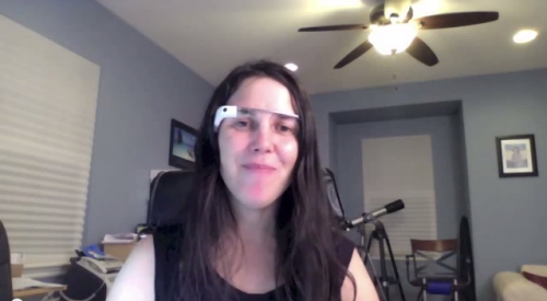 Cecilia Abadie wearing Google Glass