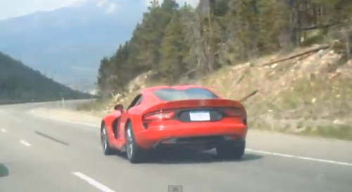 A 2013 Dodge Viper Silverthorne on Loveland Pass, Colorado I-70.
