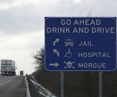 Drunk Driving Prevention Sign