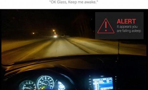 SmartDrive app for Google Glass