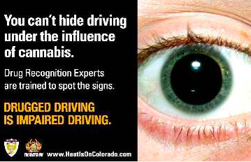 CDOT poster to prevent driving while stoned