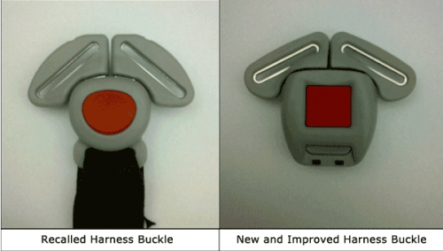 Graco child seat buckles