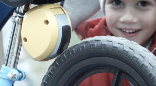 Minibrake on child's bicycle