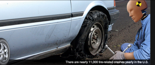 TireWise photo of a problem tire